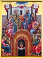 Слизането на Св. Дух над св. апостоли