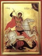 Св. Георги убива змея.