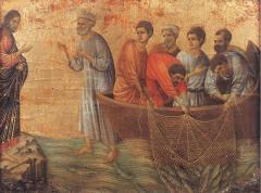 Duccio di Buoninsegna, Christ's Appearance at Lake Tiberias, Museo dell'Opera del Duomo, Siena, 1308-11