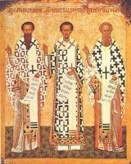 St. Basil Magnum, St. John Hrizostomos, St. Grigorius Theological