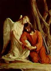 Jesus Christ & Angel in the garden