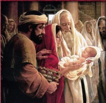 Jesus Christ, Mary, Joseph and St. Simeon