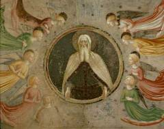 mazolino da panicale, the father god and angels