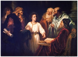 12-years old Jesus in the temple