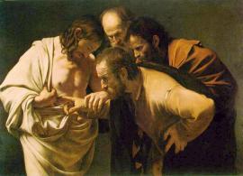 Caravaggio, Jesus after His Resurrection and St. Apostle Thomas