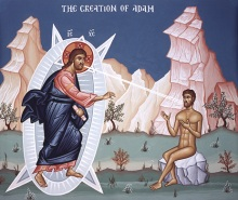 Jesus Christ, as God, The 2nd Person of St. Trinity, Creates Adam