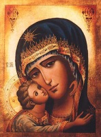 the virgin mary and child.privat collection.italy.