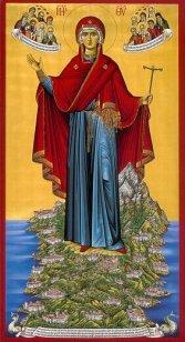 Св. Богородица - покровител на Св. гора Атон