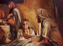Jesus visiting Martha and Mary 2