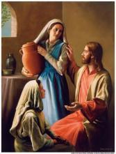 Jesus visiting Martha and Mary