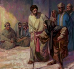 The healing of a crippled woman on the sabbath