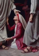The woman who touched jesus garment 2