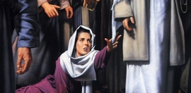 The woman who touched jesus garment