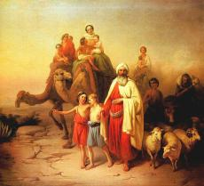 Old Testament 9 - Abraham and his family traveling toward Canaan Source